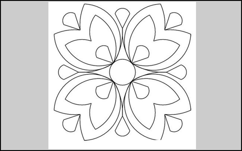 Mẫu trang trí hình vuông đơn giản 1