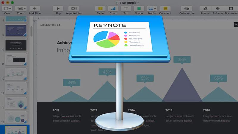 Hình ảnh minh họa Keynote