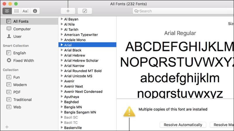 Một số font chữ trên Keynote