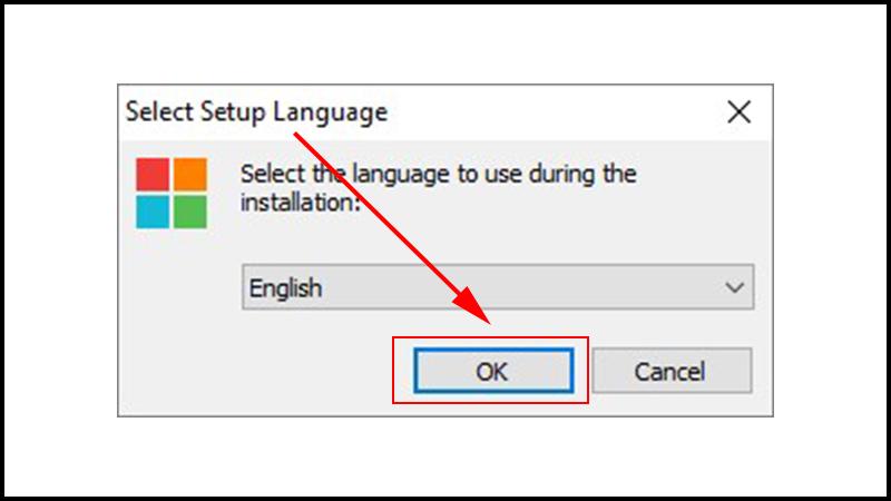 Chọn ngôn ngữ là tiếng Anh