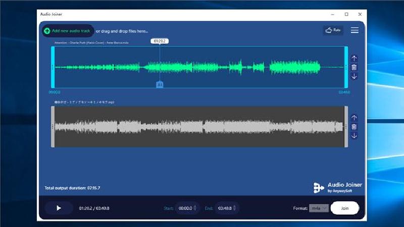 Audio Joiner có thể điều chỉnh cấu hình chu kỳ phát cụ thể cho mỗi bản thu âm