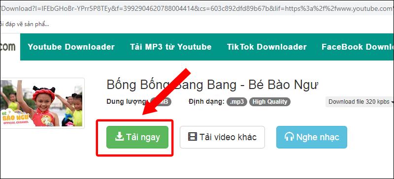 Tải tệp MP3 vừa chuyển