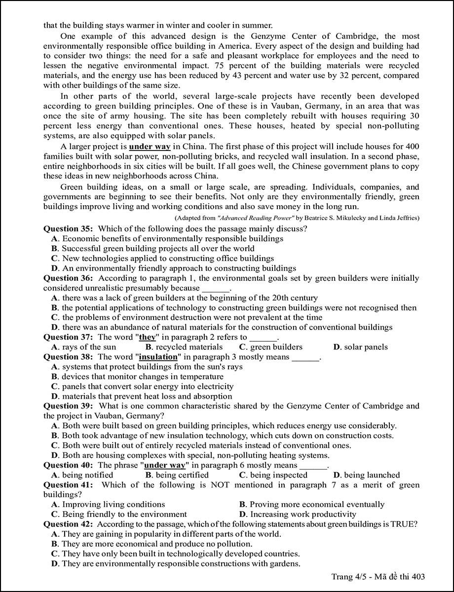 Mã đề 403 - Trang 4