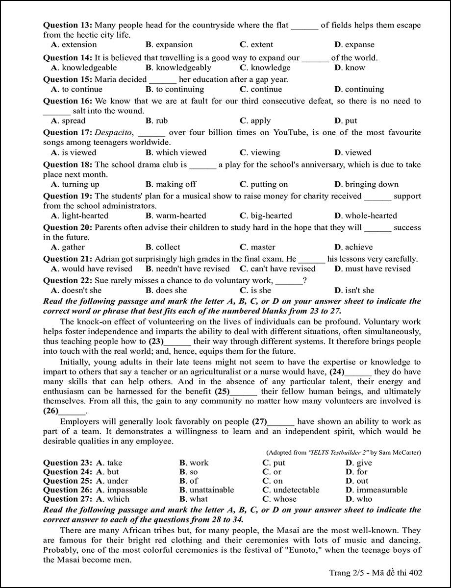 Mã đề 402 - Trang 2