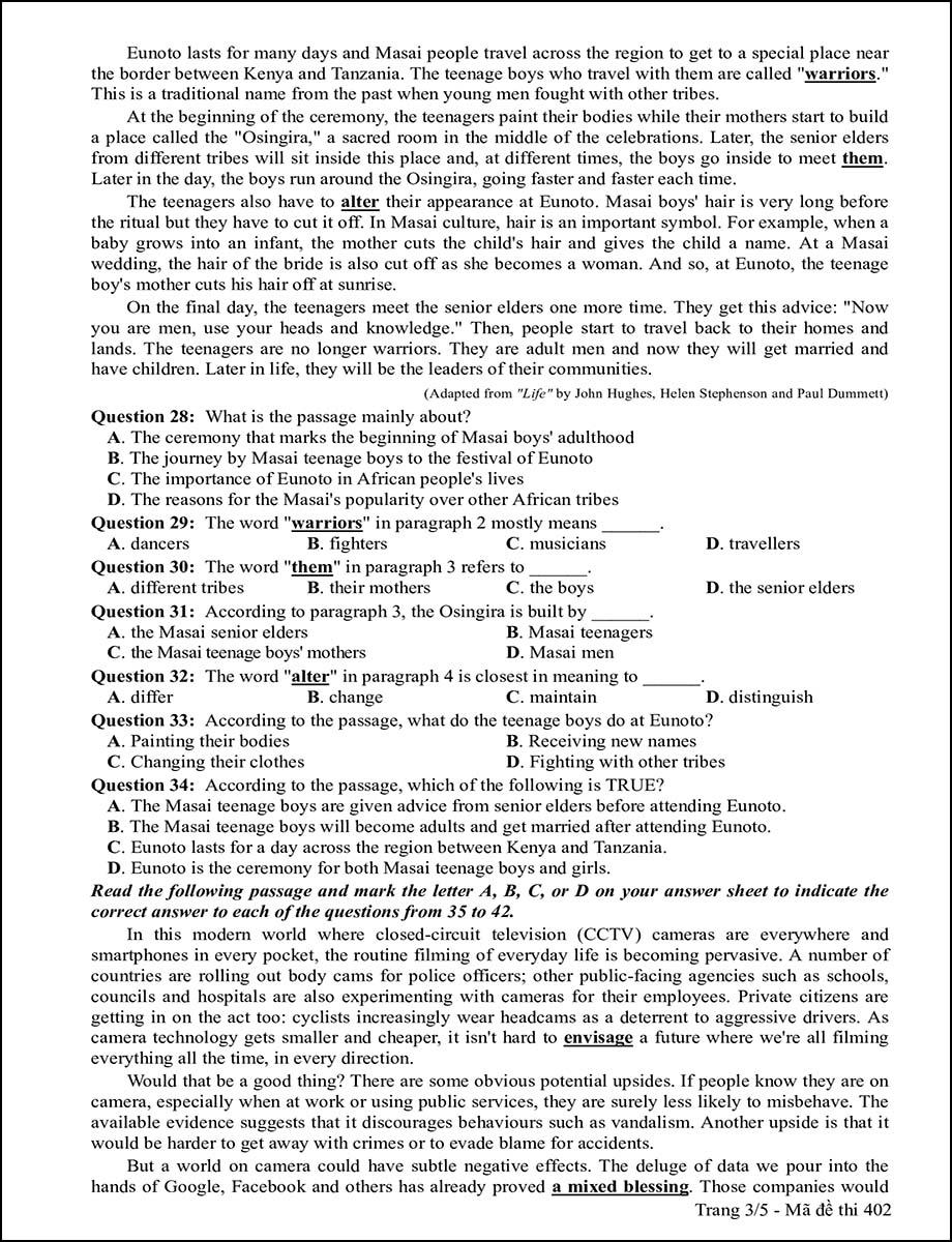 Mã đề 402 - Trang 3