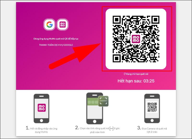 Sử dụng ví MoMo để quét mã QR thanh toán