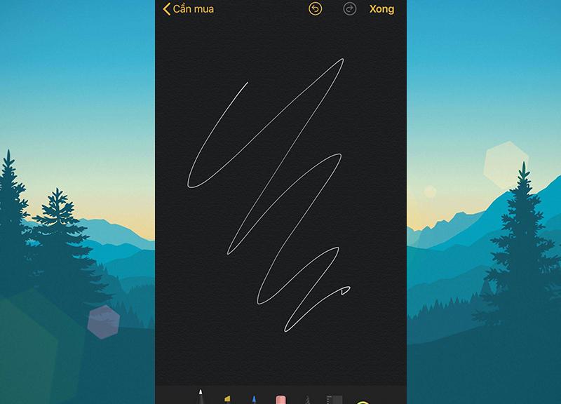Ghi chú lên màn hình iPhone