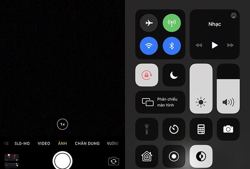 Kiểm tra hở sáng màn iPhone