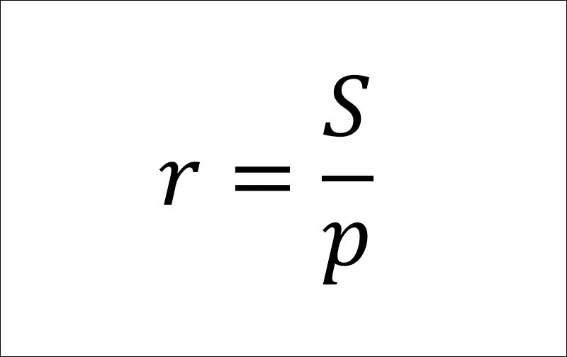 Công thức tính bán kính đường tròn nội tiếp tam giác