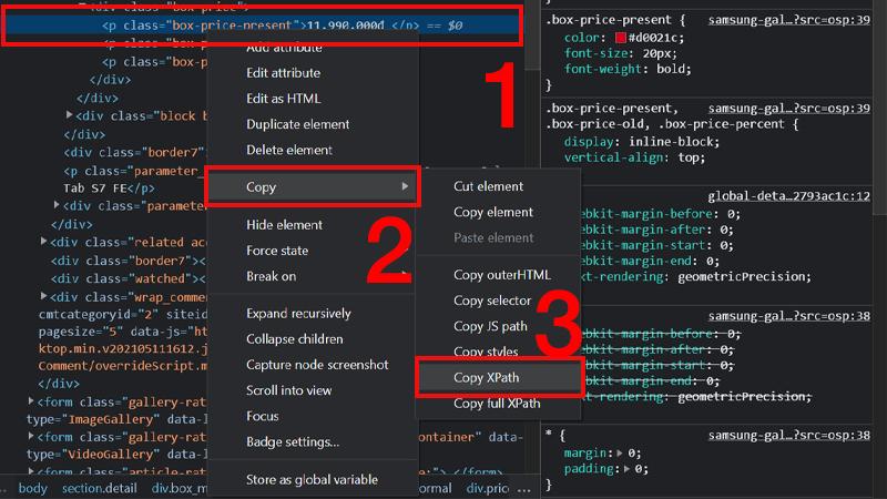 Copy XPath