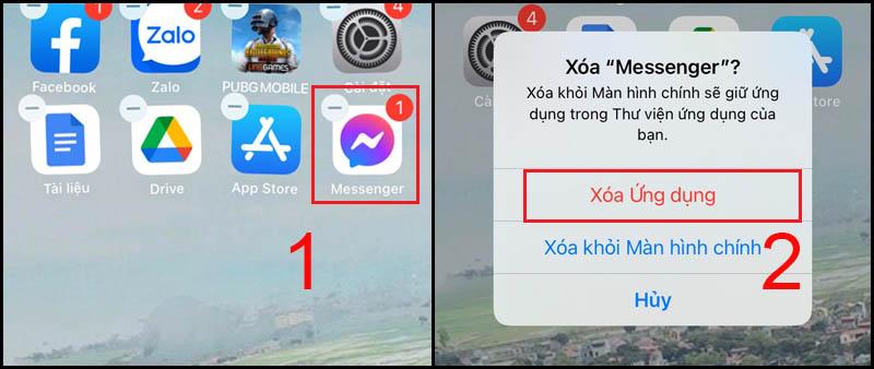Gỡ cài đặt ứng dụng Messenger