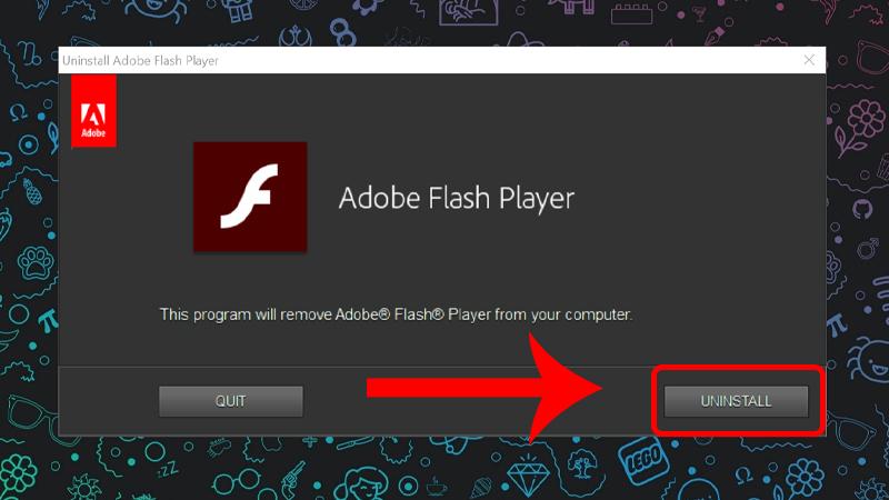 Bước 1: Xóa phiên bản Adobe Flash lỗi thời trên máy tính