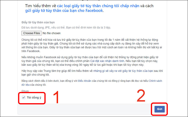 Xác minh danh tính với Facebook