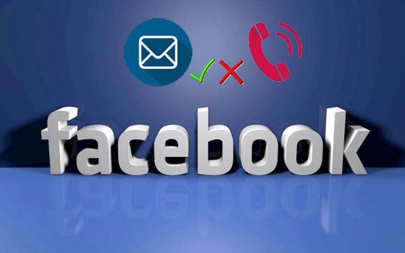 Đăng ký Facebook bằng email thay vì số điện thoại