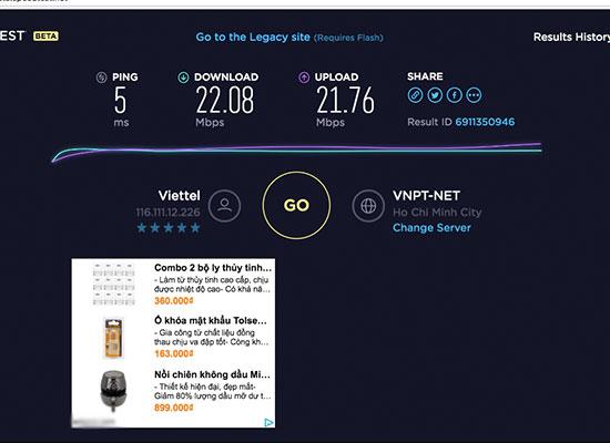 Tiếp theo bạn hãy sử dụng chỉ số Download đã được kiểm tra so với các móc  tốc độ tải dưới đây để kiểm tra xem mạng wifi này đủ để sử ...