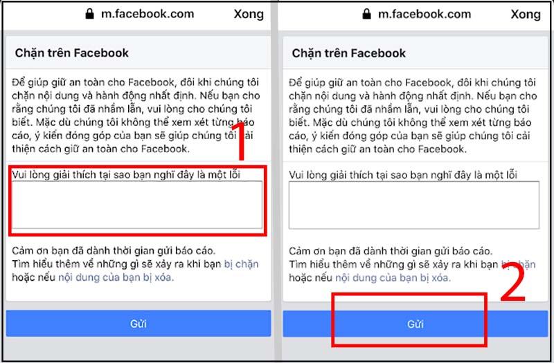 Gửi yêu cầu xóa chặn trên marketplace Facebook