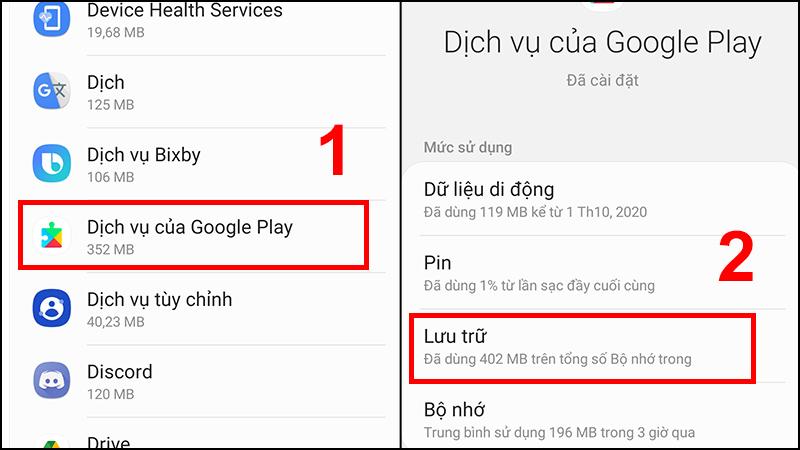 Xóa dữ liệu Cache của CH Play