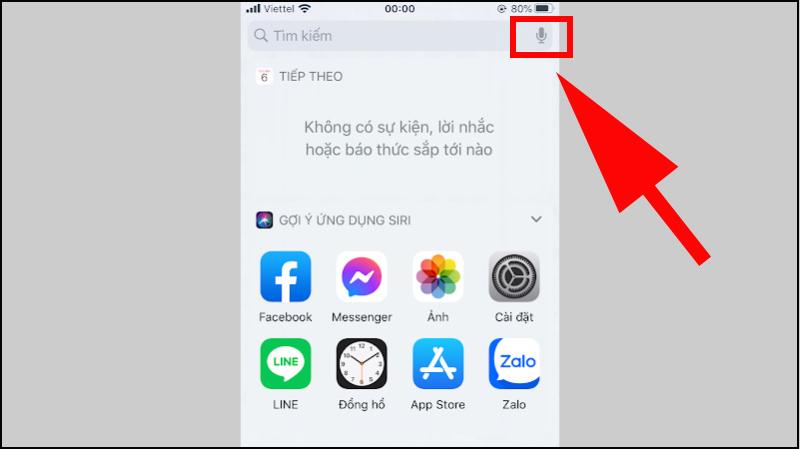Sử dụng mic ở cạnh thanh tìm kiểm trong giao diện tìm kiếm nhanh