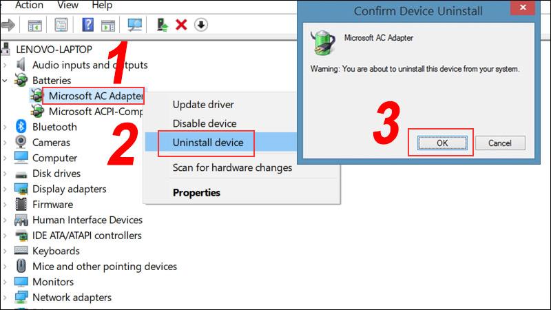 Uninstall Microsoft AC Adapter