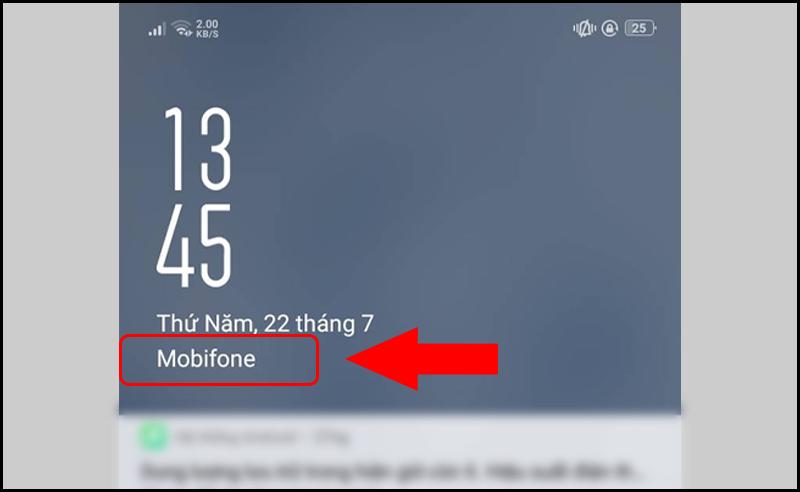Xem thông tin nhà mạng trên màn hình khóa