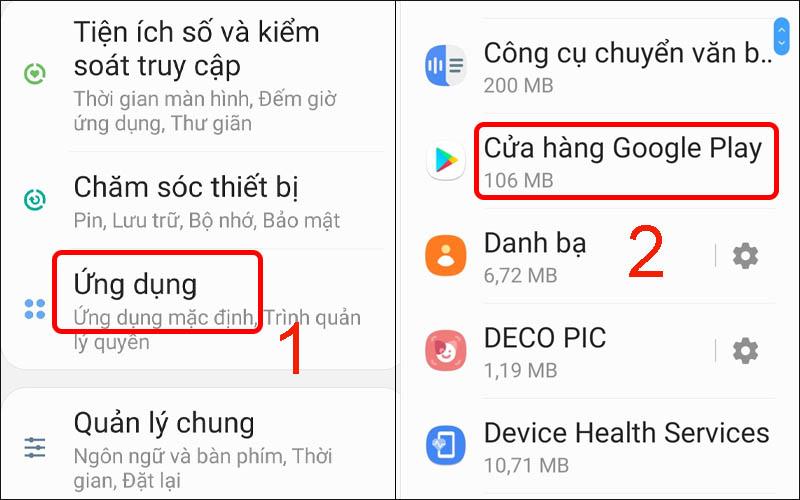 Chọn Cửa hàng Google Play