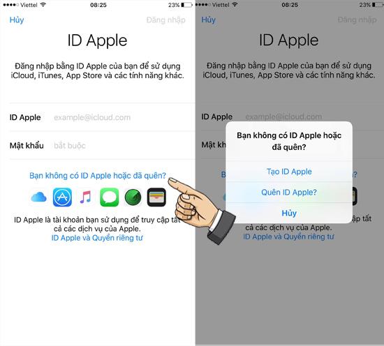 Tạo Apple ID mới