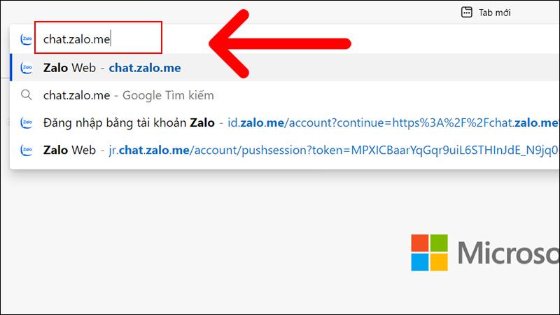 Truy cập Zalo Web