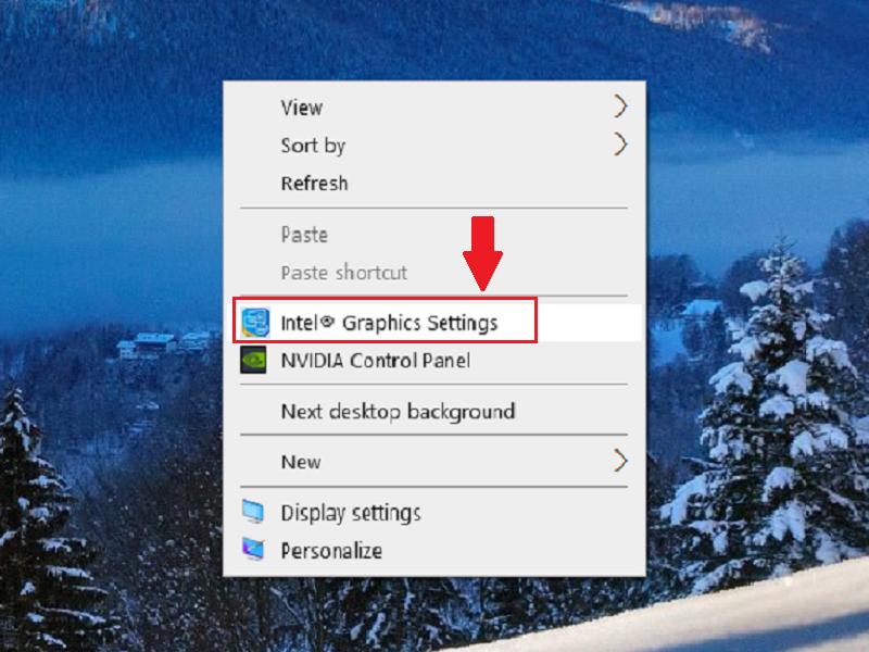 Mở ứng dụng bằng cách click chuột phải từ Desktop