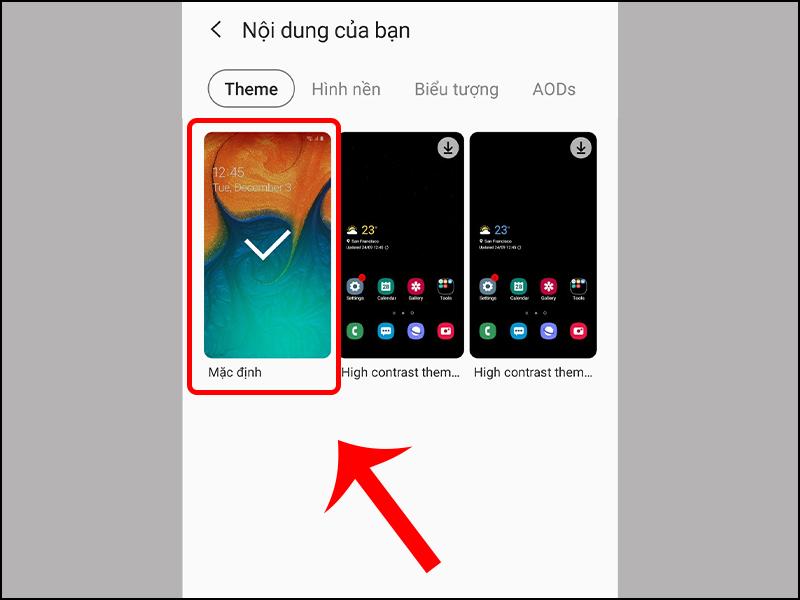 Cách khôi phục giao diện mặc định trên điện thoại Samsung đơn giản