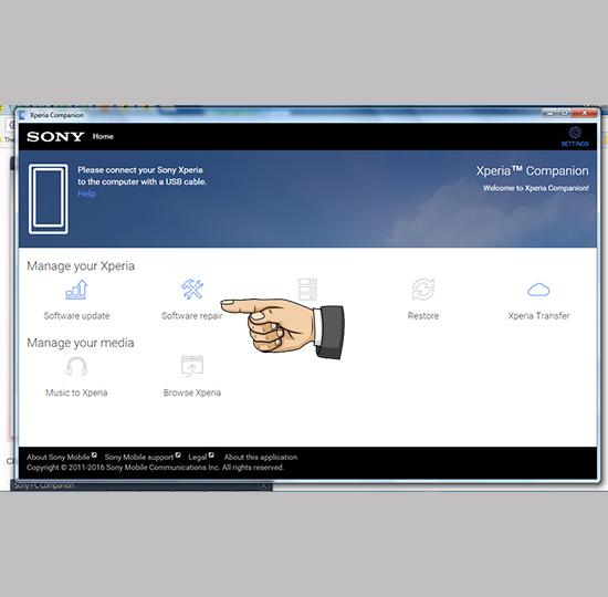 Dùng Sony PC Companion chạy lại máy Sony bị quên mật khẩu