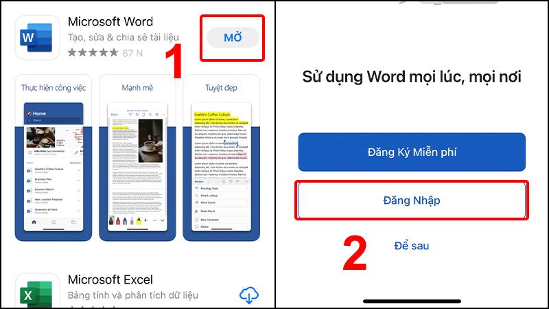 Mở ứng dụng Microsoft Word và đăng nhập tài khoản Microsoft