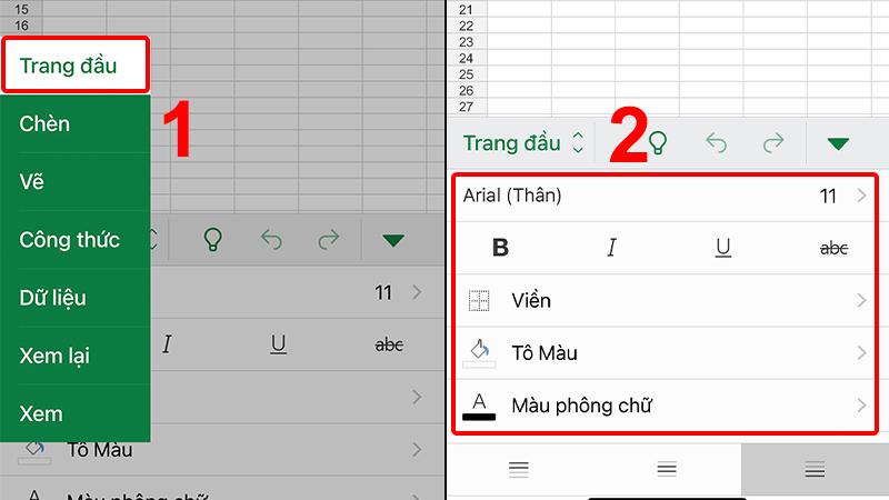 Chọn công cụ chỉnh sửa trong tab Trang đầu