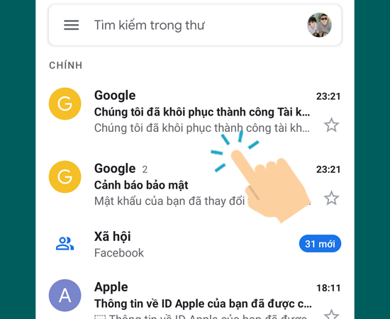 7 bước lấy lại thông tin của tài khoản Google trên máy Android