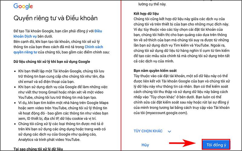 Hướng dẫn tạo tài khoản Gmail (2)