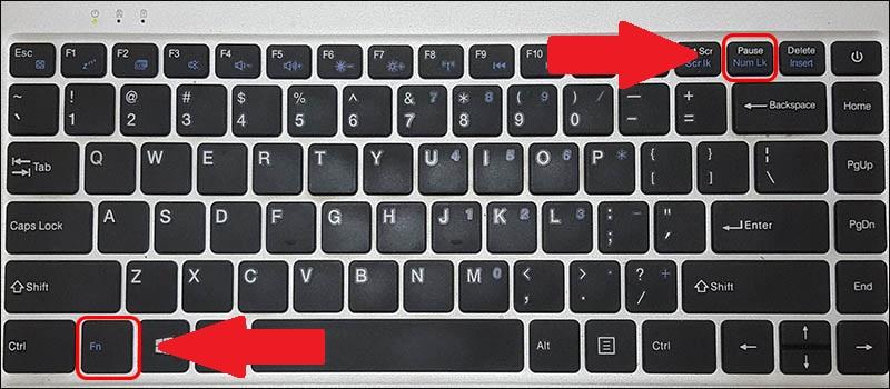 Nhấn tổ hợp phím Fn + Num Lk để khắc phục lỗi gõ chữ ra số