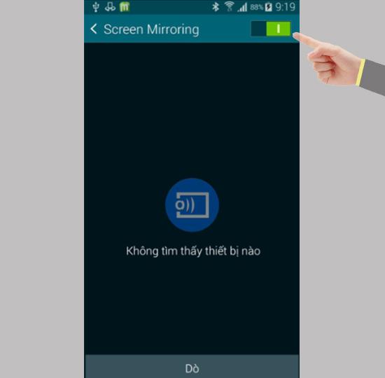 Screen Mirroring phản chiếu hình ảnh không dây trên Samsung