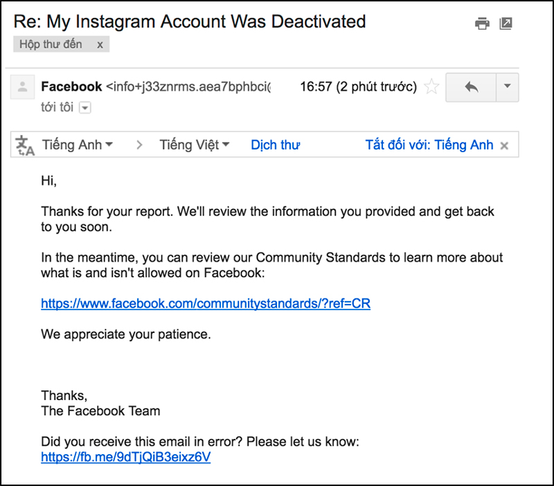 Cách khôi phục tài khoản Instagram bị vô hiệu hóa3