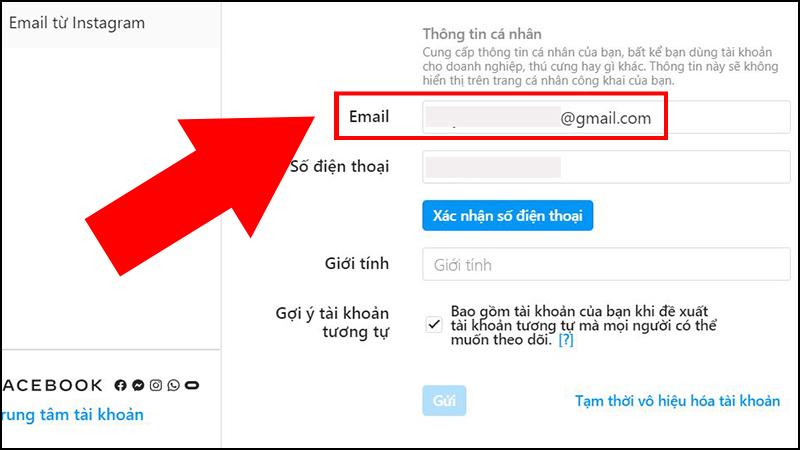 Bước 2: Kiểm tra email từ Instagram xem email được liên kết với tài khoản. Nếu vẫn là email của bạn thì bạn có thể đảo ngược tình thế này.