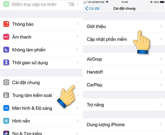 """Bước 1: Bạn kiểm tra IMEI iPhone bằng cách vào Cài đặt trên iPhone, đi tiếp vào """"Cài đặt chung"""", chọn mục """"Giới thiệu""""."""