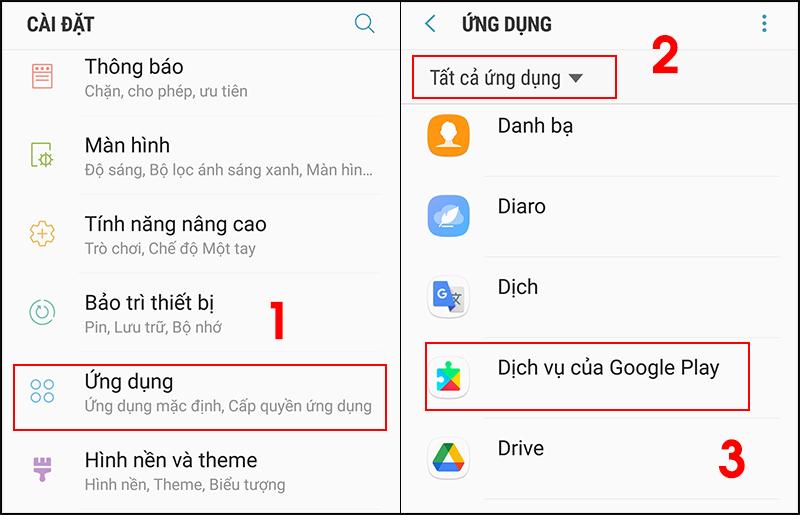 Ảnh minh họa cho Dịch vụ Google Play, cách làm tương tự với ứng dụng Google