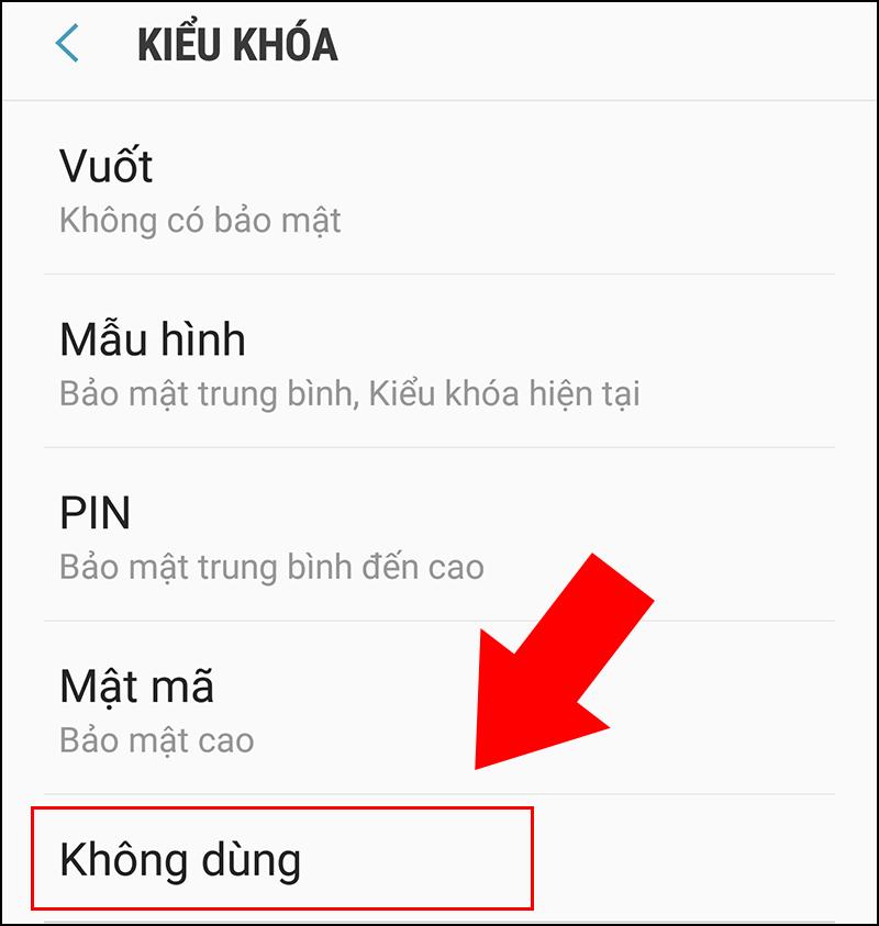 Cách xoá mật khẩu màn hình khoá trên điện thoại Samsung cực đơn giản