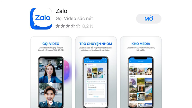 Cài đặt lại Zalo để cho phép các quyền truy cập