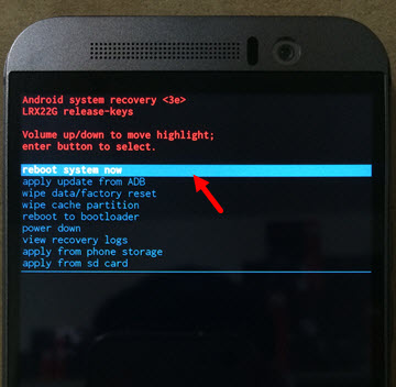 Hard Reset máy HTC One M9 - Thegioididong com