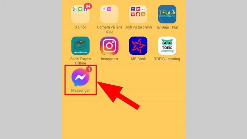 Truy cập Messenger trên điện thoại
