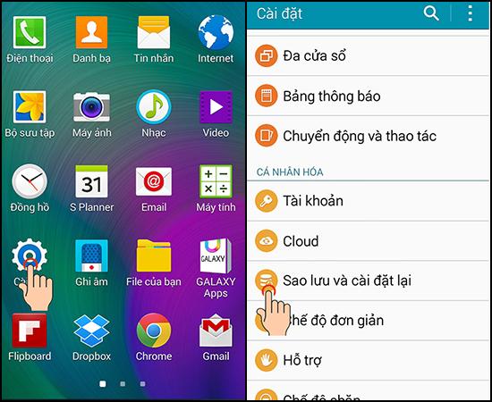 Hướng dẫn cách khôi phục cài đặt gốc trên Samsung Galaxy A5