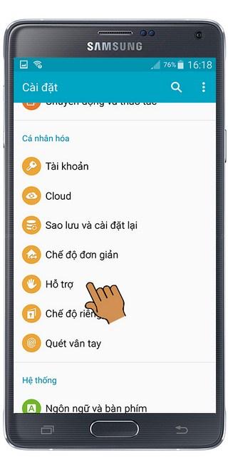 Bật âm thanh mono trên Samsung Galaxy Note 4