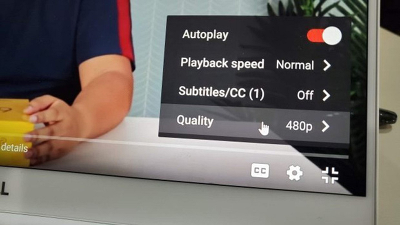 Hạ thấp chuẩn video xuống 480p, 360p hoặc 240p