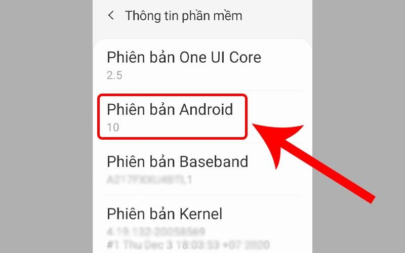 Chọn Phiên bản Android