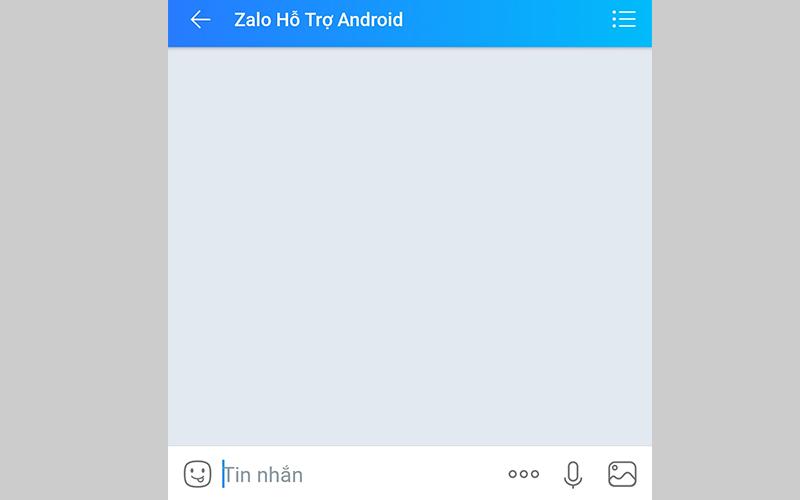 Chat trực tiếp với nhân viên Zalo