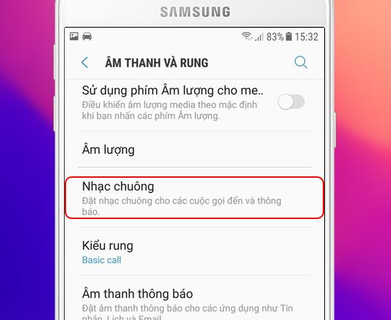 5 bước thay đổi nhạc chuông cuộc gọi cho Samsung Galaxy J7 Prime